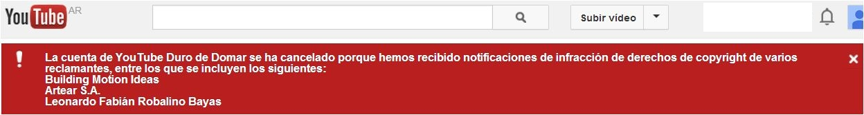 DURO DE DOMAR YOUTUBE