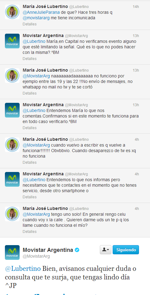 lubertino enojada con movistar