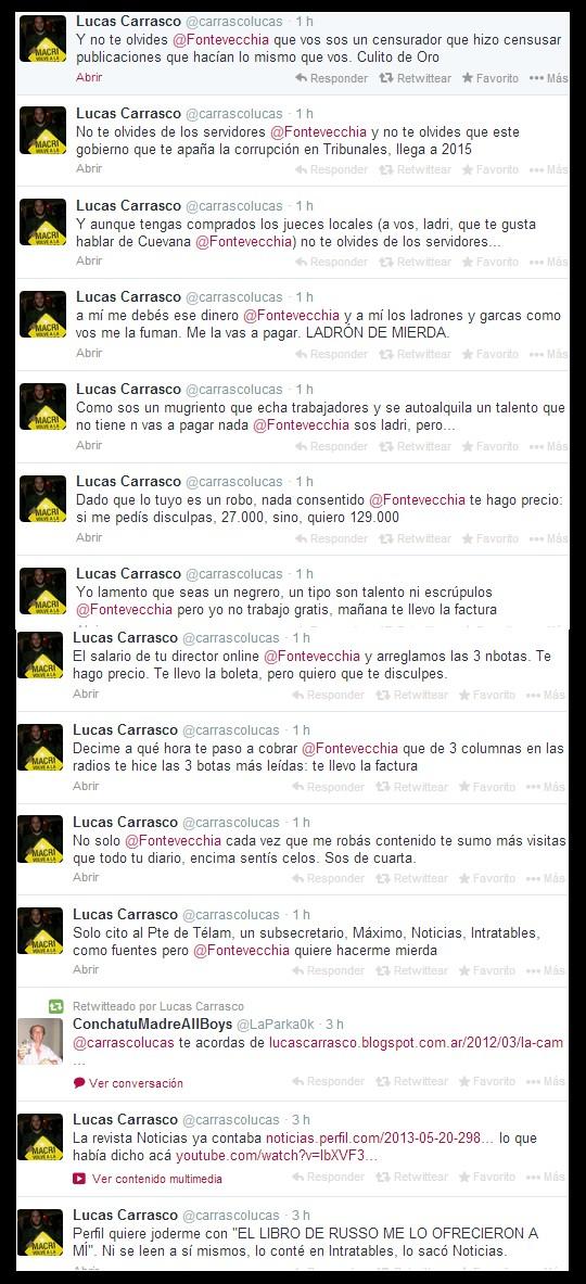LUCAS CARRASCO DURO CON FONTEVECCHIA