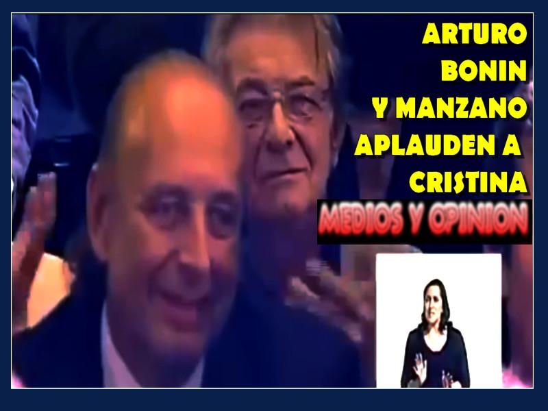 RTURO BONIN APLAUDE A CRISTINA CON MANZANO