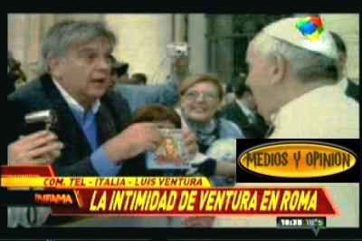 VENTURA CON EL PAPA