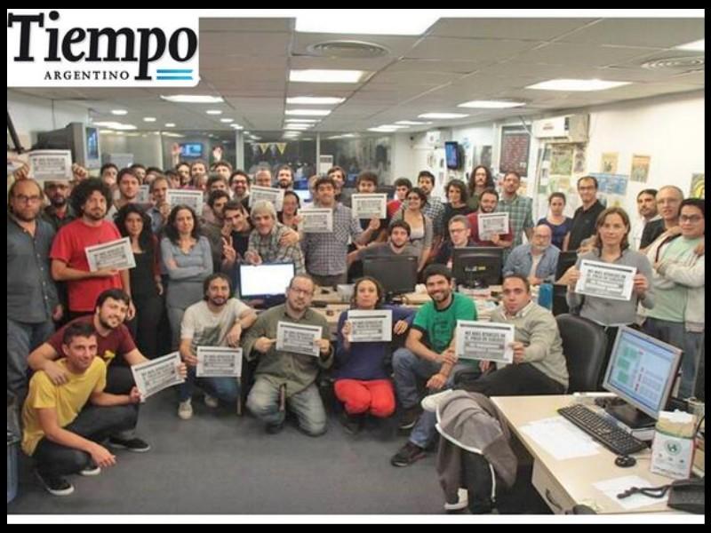 protesta de trabajadores de tiempo argentino