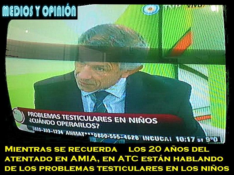 CANAL 7 TV PUBLICA NO TRANSMITIO EN DIRECTO LOS HOMENAJES EN AMIA