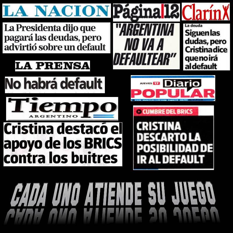 LOS MEDIOS Y EL DEFAULT