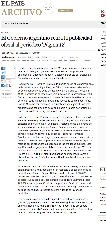 Gobierno Retira Publicidad Oficial A P 12 A 209 O 1992