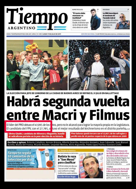 tiempo argentino macri filmus
