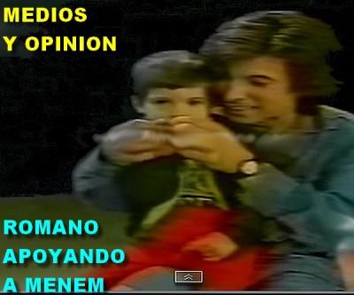ROMANO APOYANDO A MENEM