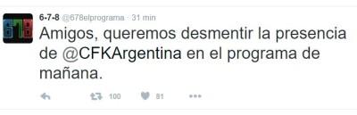 678 NO VA CFK
