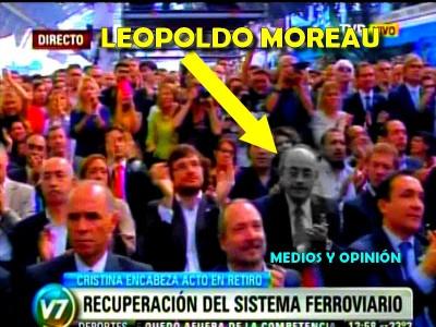 LEOPOLDO MOREAU APLAUDE