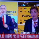 Diego Santilli le llenó la cara de dedos al operador dunga dunga de @C5N