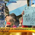Tremendo contrapunto entre @C5N y @todonoticias Por la marcha del 19/S  VIDEO