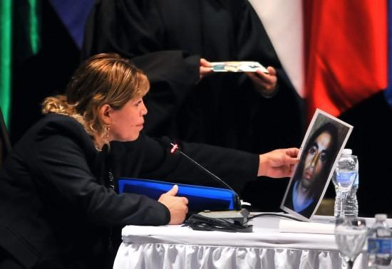 María Millacura en la Corte Interamericana de DDHH, en las audiencias llevadas a cabo en Paraná, en mayo de este año