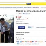 Las medias «Clarín miente» en MercadoLibre