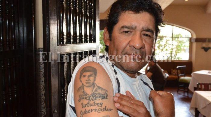 Dante Cardozo, taxista que se tatuó el nombre y rostro del Gobernador Juan Manuel Urtubey