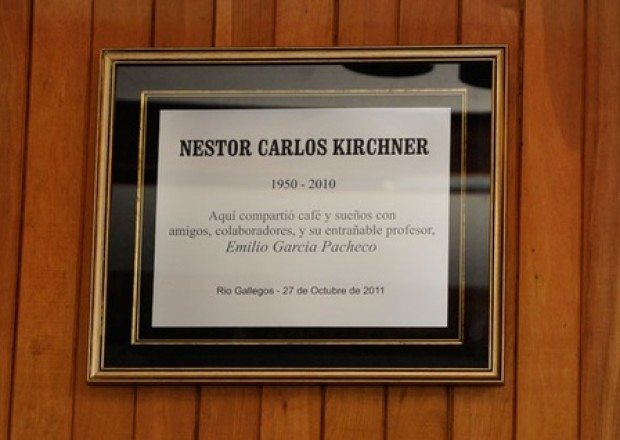 Placa en Bar Hotel Santa Cruz, Rio Gallegos