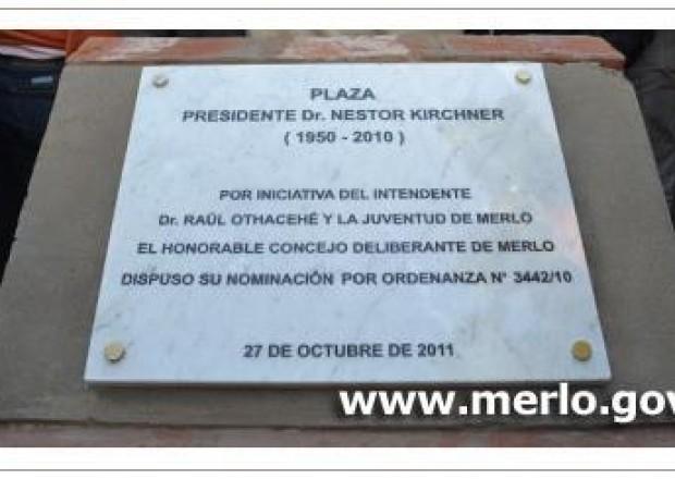 Plaza Kirchner en Merlo, BsAs