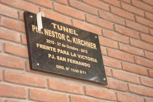 San Fernando: tunel Néstor Carlos Kirchner