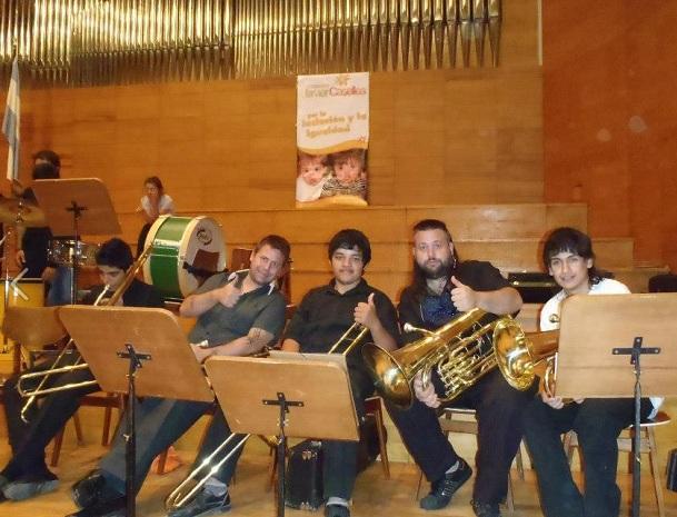 García es director de la Banda Sinfónica de Albardón