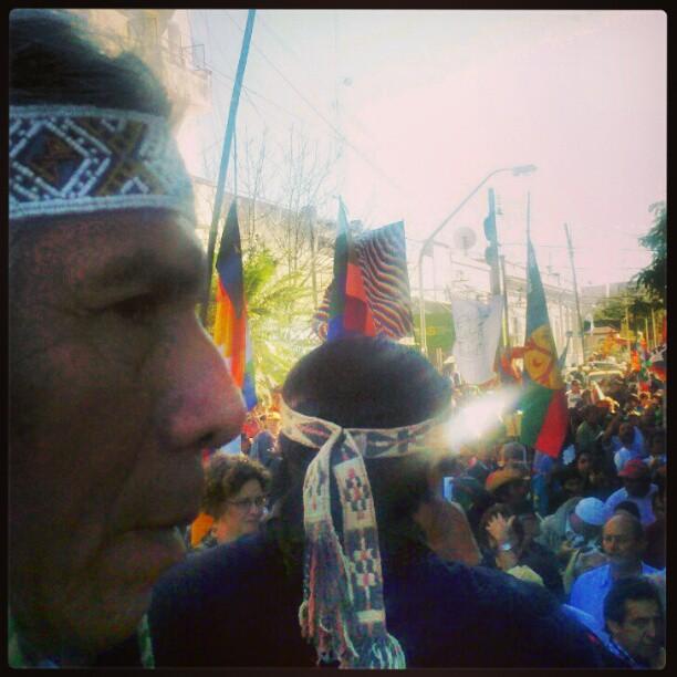 Félix Díaz frente a la Casa de Gobierno