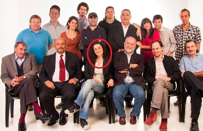 """Luciana Botte con el equipo de """"Siete Punto Cero"""""""