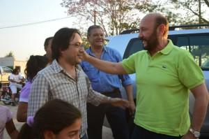 El cuestionado diputado Adrián Bogado junto al eterno gobernador Insfrán.