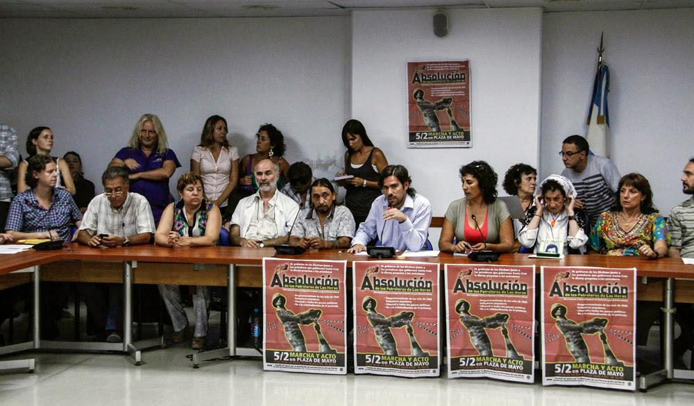 En el centro, Ramón Cortez, condenado a perpetua.