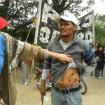 CHACO: Salvaje represión. Denuncian balas de plomo.