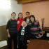 Los presos políticos de ATE junto a Nora Cortinas.